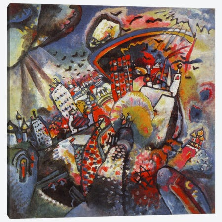 Moscow Canvas Print #11407} by Wassily Kandinsky Canvas Art