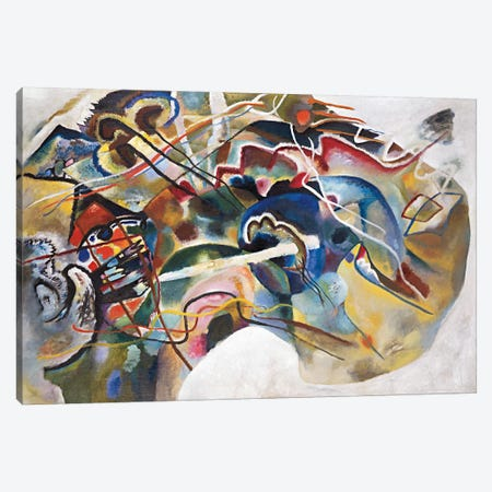 Painting with White Border Canvas Print #11410} by Wassily Kandinsky Canvas Artwork