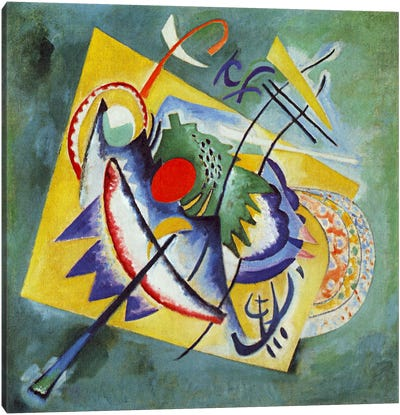 Red Oval by Wassily Kandinsky Canvas Wall Art