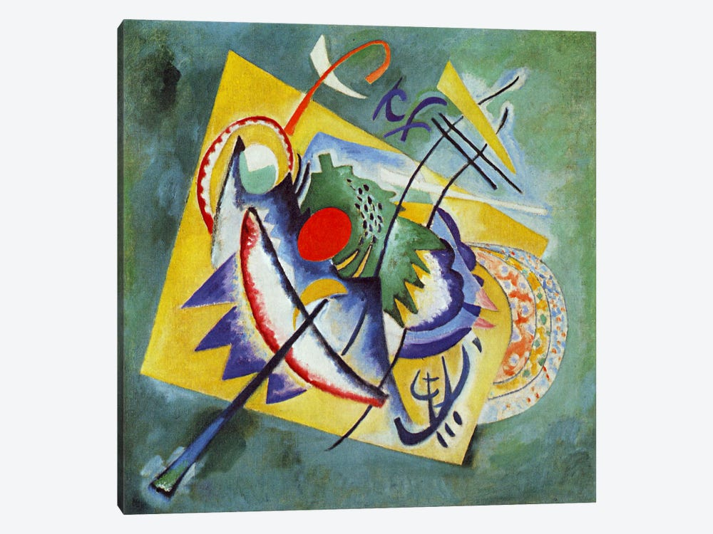 Red Oval by Wassily Kandinsky 1-piece Canvas Artwork