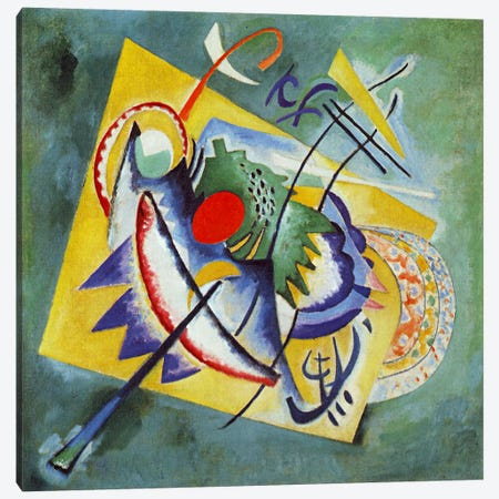 Red Oval Canvas Print #11412} by Wassily Kandinsky Canvas Wall Art
