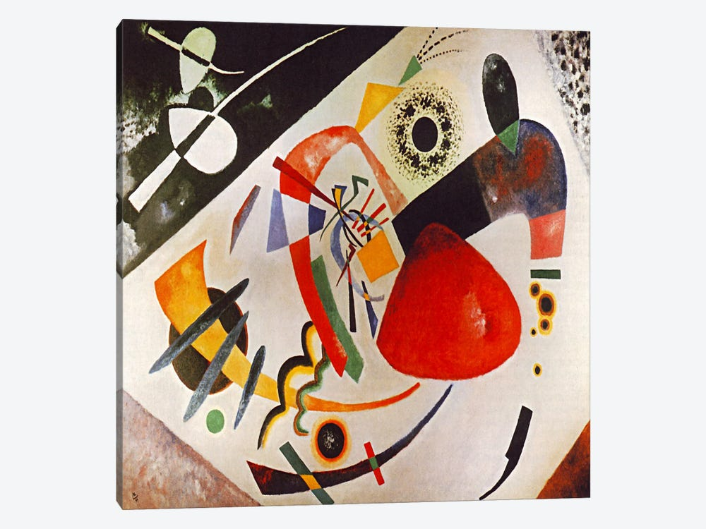 Red Spot by Wassily Kandinsky 1-piece Canvas Print