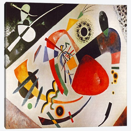 Red Spot Canvas Print #11413} by Wassily Kandinsky Canvas Artwork