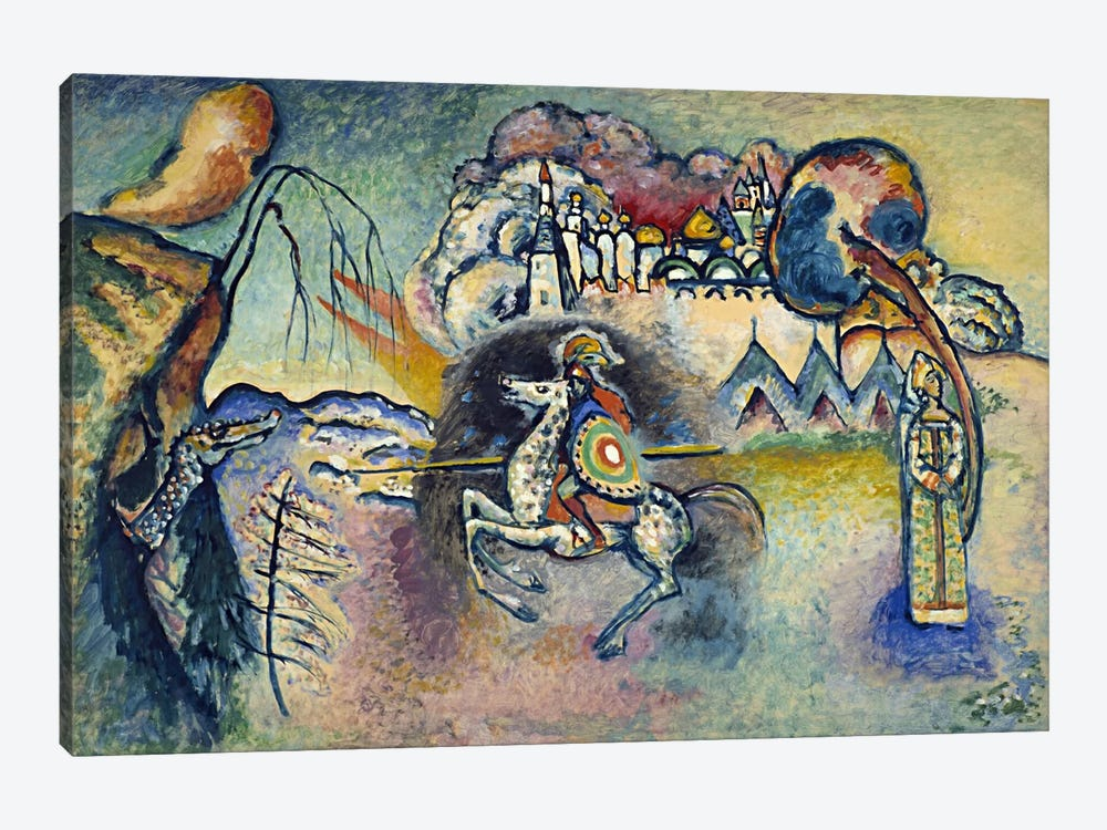 Saint George Rider and the Dragon by Wassily Kandinsky 1-piece Art Print