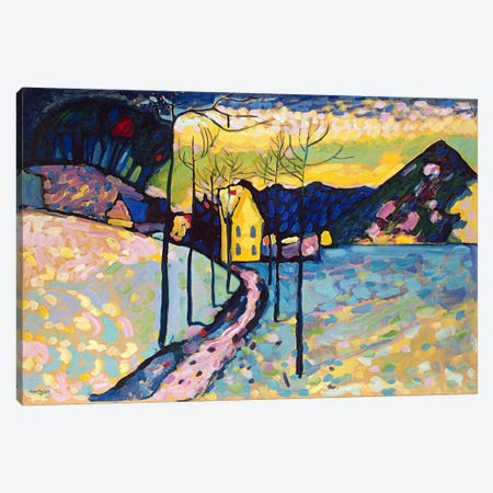 Winter Landscape Canvas Print #11423} by Wassily Kandinsky Art Print