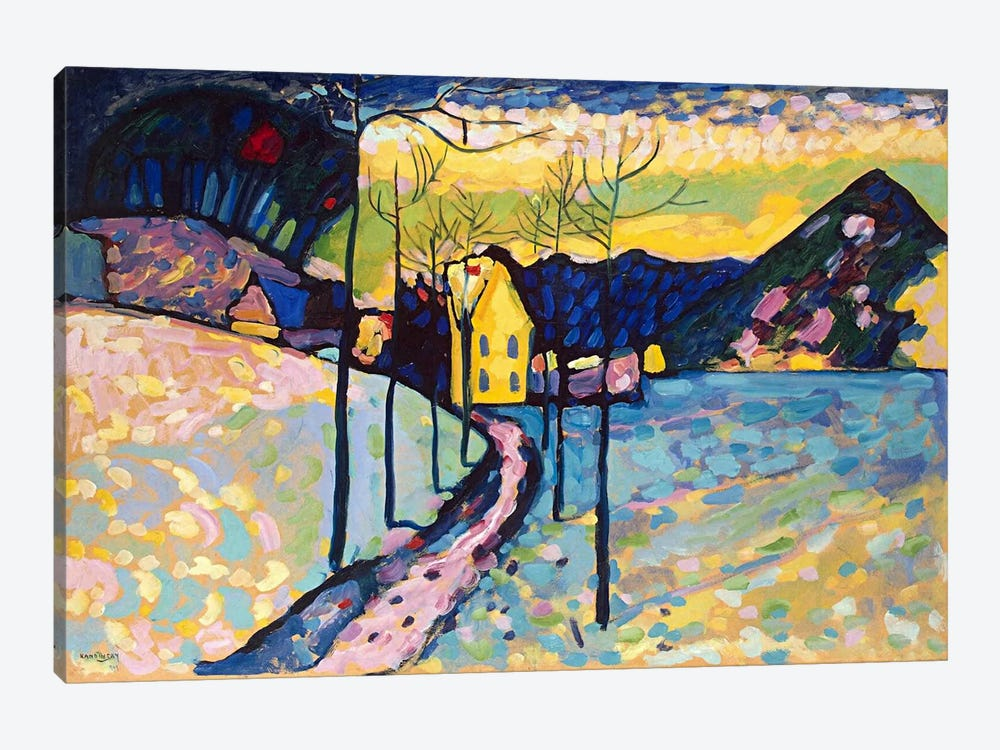 Winter Landscape by Wassily Kandinsky 1-piece Canvas Artwork