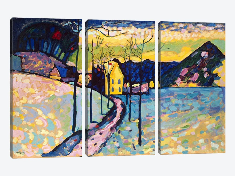Winter Landscape by Wassily Kandinsky 3-piece Canvas Art