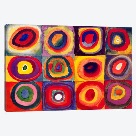 Squares with Concentric Circles Canvas Print #11426} by Wassily Kandinsky Canvas Wall Art