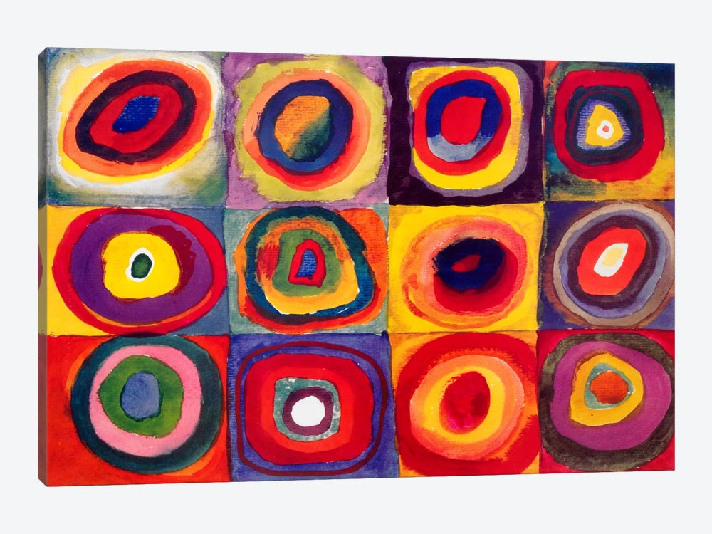 Squares with Concentric Circles by Wassily Kandinsky 1-piece Canvas Print