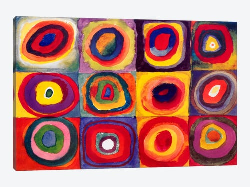 Squares With Concentric Circles Canvas Print By Wassily Kandinsky Icanvas