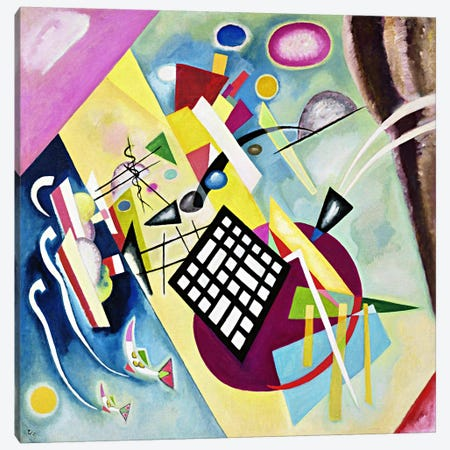 Black Grid Canvas Print #11427} by Wassily Kandinsky Canvas Artwork