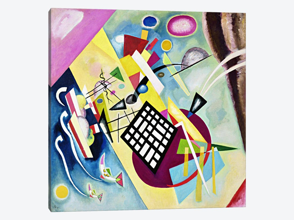 Black Grid by Wassily Kandinsky 1-piece Canvas Wall Art