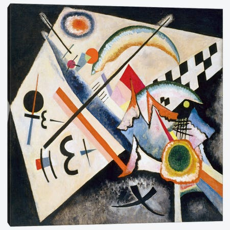 White Cross Canvas Print #11428} by Wassily Kandinsky Canvas Print