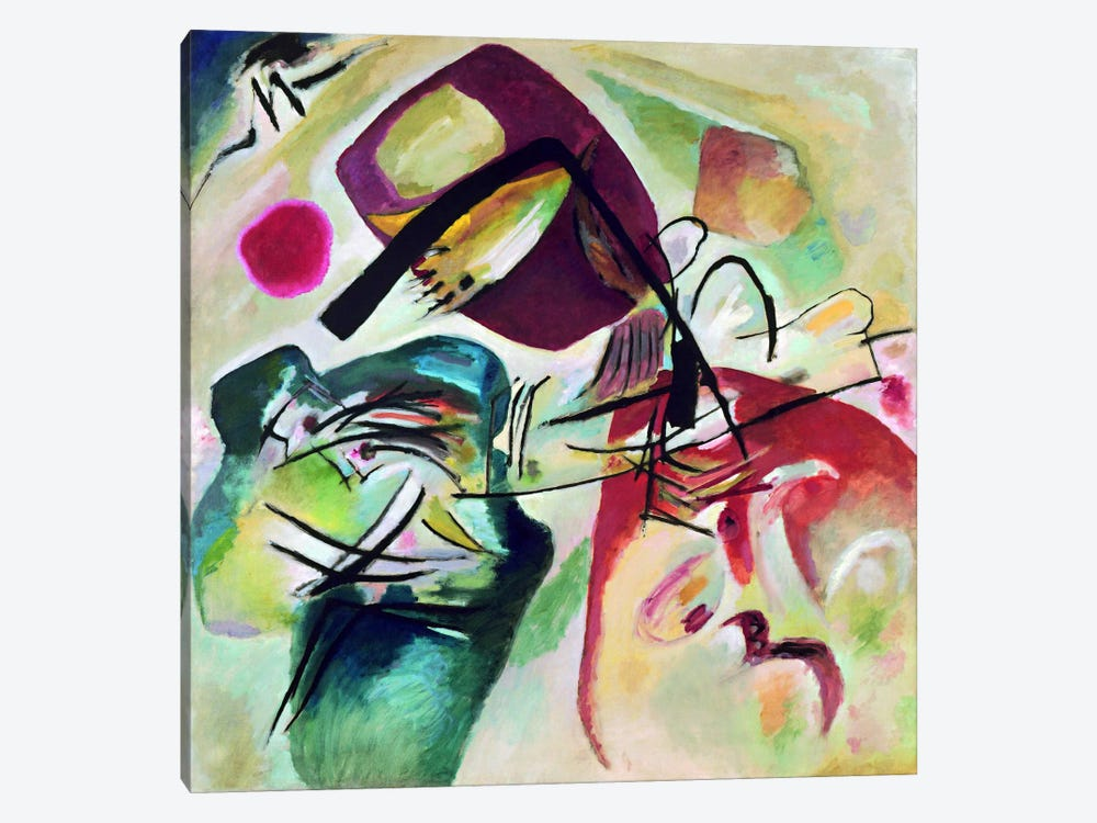 With Black Arch by Wassily Kandinsky 1-piece Canvas Artwork
