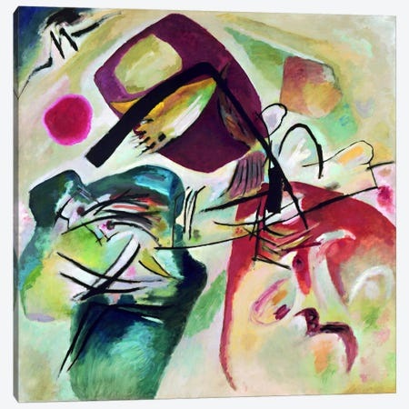 With Black Arch Canvas Print #11429} by Wassily Kandinsky Canvas Art Print