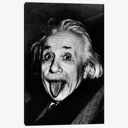 Albert Einstein, Sticking His Tongue Out Canvas Print #11437} by Arthur Sasse Canvas Art Print