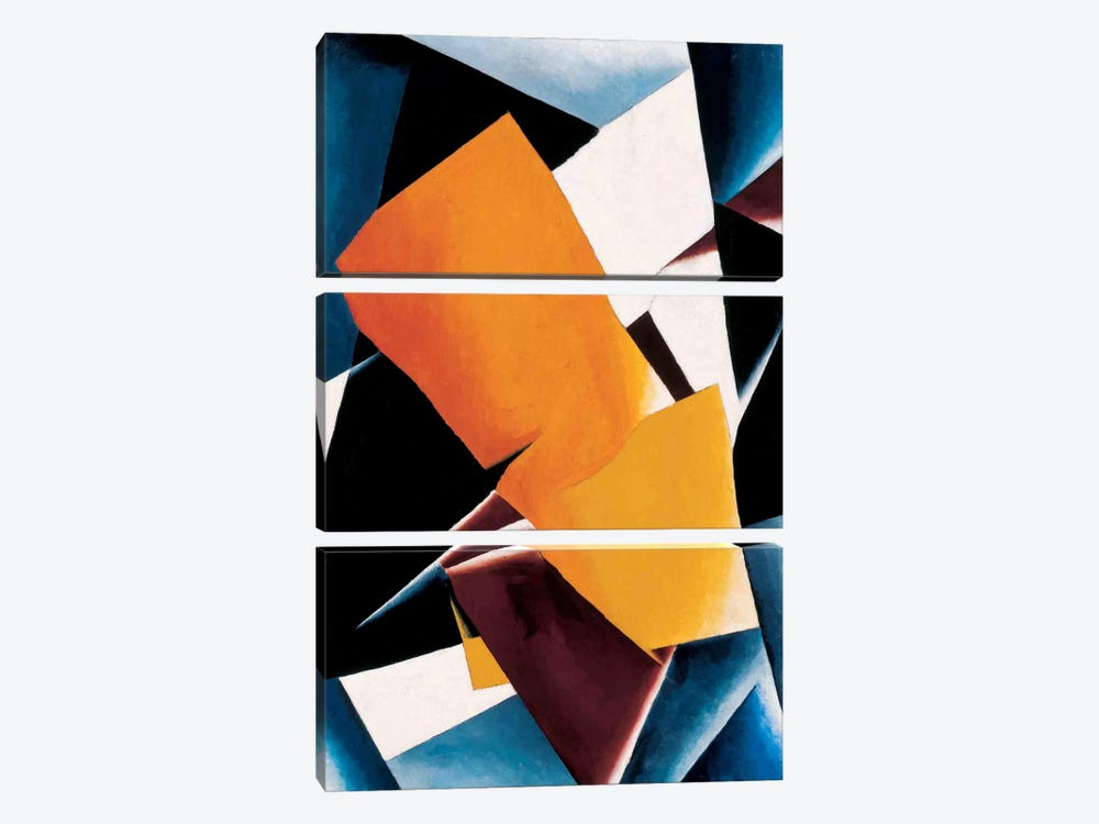 Painterly Architectonics by Lyubov Popova 3-piece Canvas Art Print