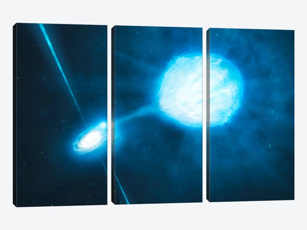 Stellar Mass Black Hole NGC 300 X-1 by European Southern Observatory (ESO) 3-piece Canvas Wall Art