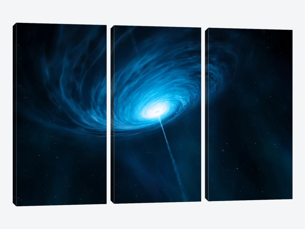 Distant Galaxy Quasar 3C 279 by European Southern Observatory (ESO) 3-piece Canvas Print