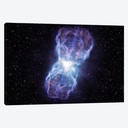 Supermassive Black Hole - Quasar SDSS J1106 Ejected Material Canvas Print #11447} by European Southern Observatory (ESO) Canvas Art