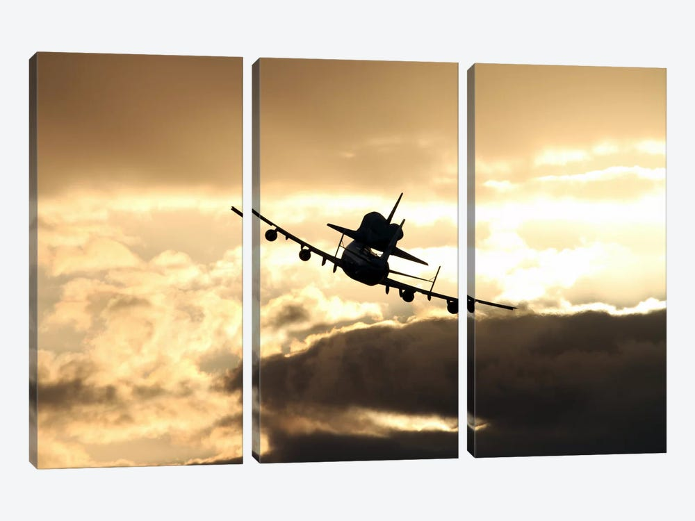 Discovery's Final Flight by NASA 3-piece Canvas Wall Art