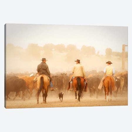 Cowboys Best Friend Canvas Print #11506} by Dan Ballard Canvas Print