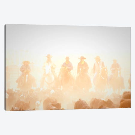 Pushing the Herd Canvas Print #11515} by Dan Ballard Canvas Art