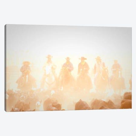 Pushing the Herd Canvas Print #11515} by Dan Ballard Canvas Art