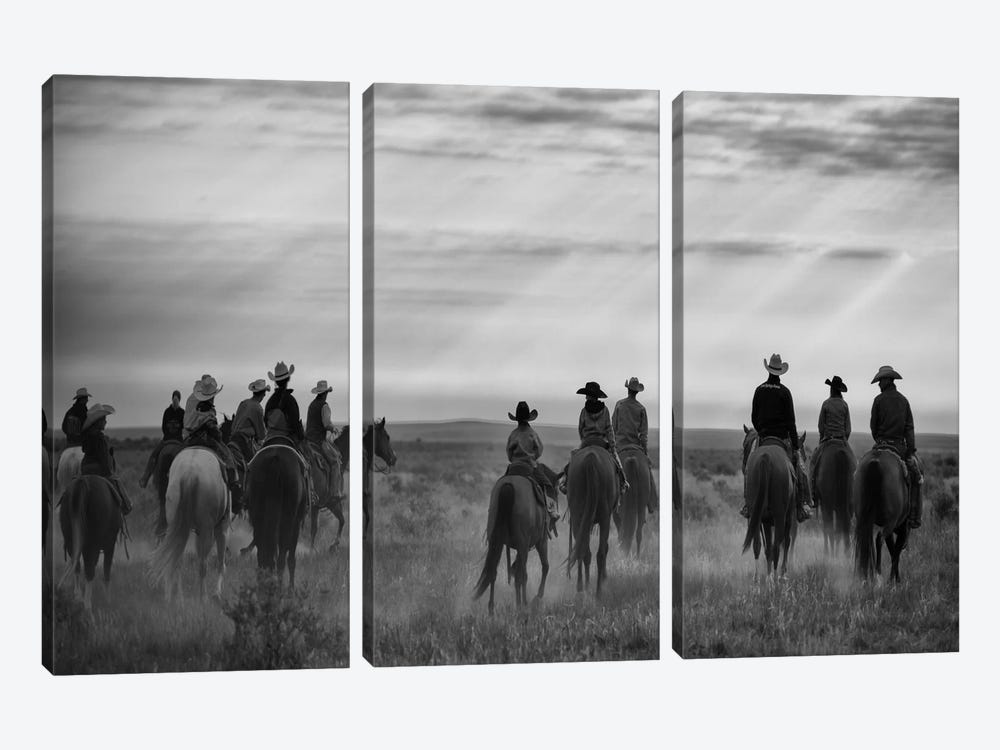 Riding Out by Dan Ballard 3-piece Canvas Wall Art
