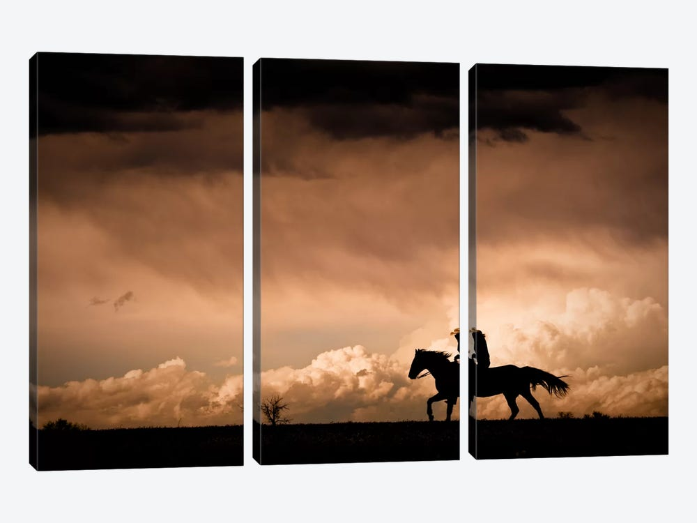 Ride the Storm by Dan Ballard 3-piece Canvas Print