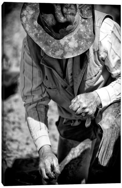Cowboy & His Hat Canvas Art Print