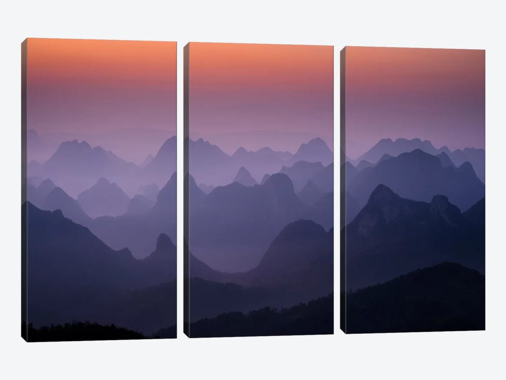 Enchanted China by Dan Ballard 3-piece Canvas Wall Art