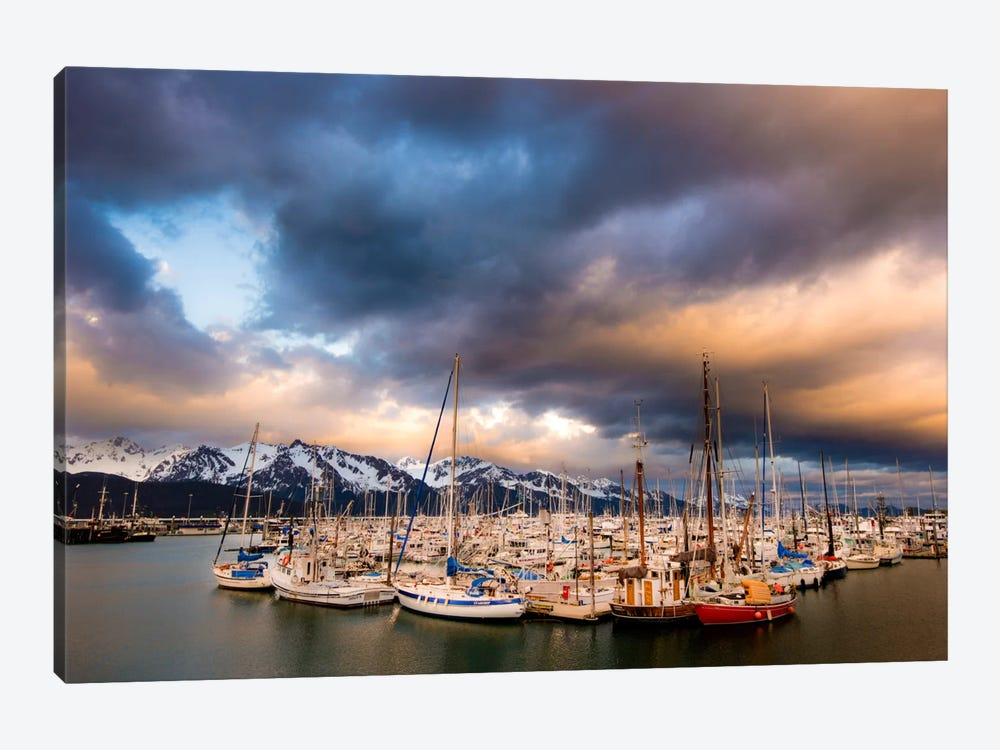 Alaska Harbor by Dan Ballard 1-piece Canvas Art Print