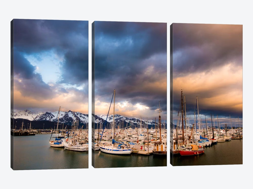 Alaska Harbor by Dan Ballard 3-piece Canvas Print