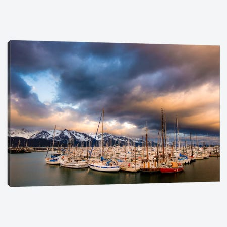 Alaska Harbor 3-Piece Canvas #11538} by Dan Ballard Art Print