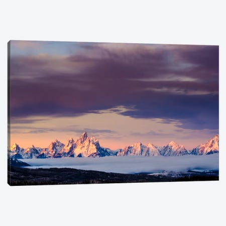 Above the Tetons Canvas Print #11540} by Dan Ballard Canvas Wall Art