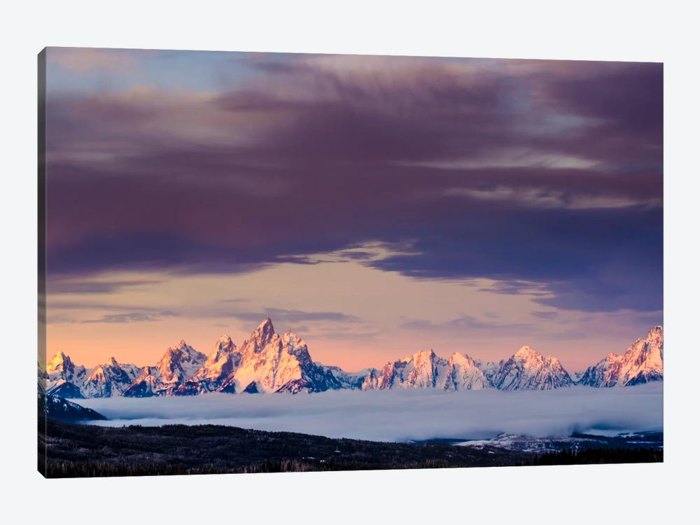 Above the Tetons 1-piece Canvas Art