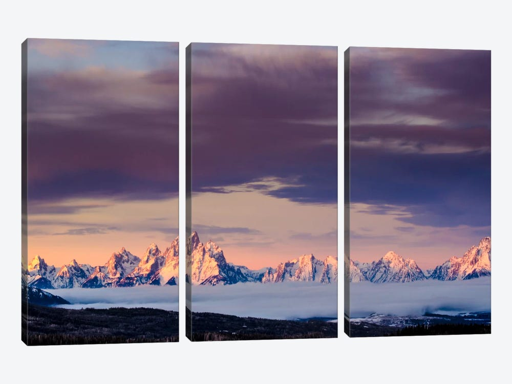 Above the Tetons 3-piece Canvas Artwork