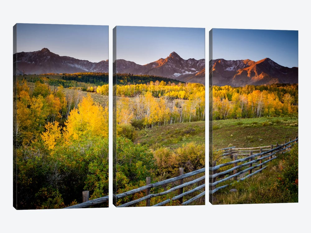 Country Morning 3-piece Canvas Print