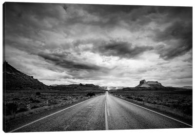 Long Stretch of Road Canvas Art Print