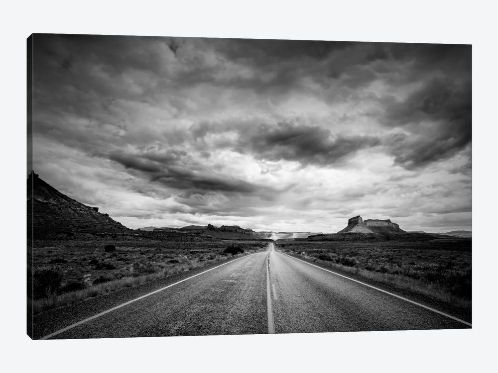 Long Stretch of Road 1-piece Canvas Print