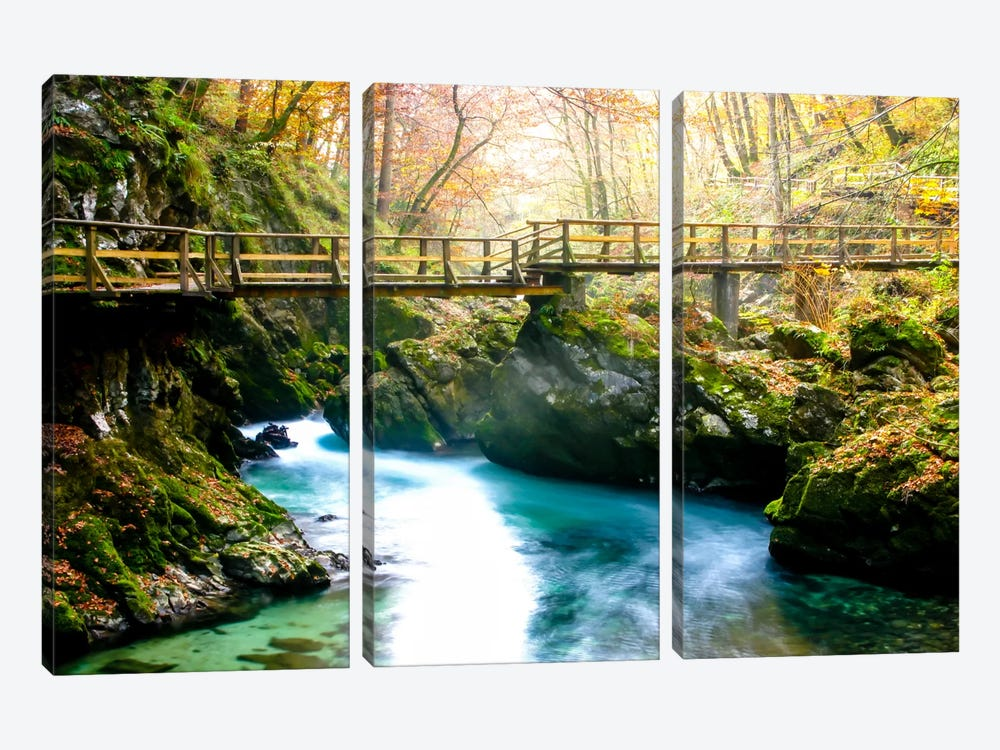Europe in Fall by Dan Ballard 3-piece Canvas Print