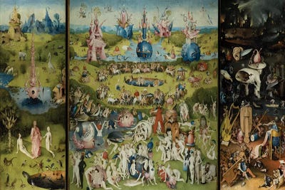 The Garden Of Earthly Delights 1504 Canvas