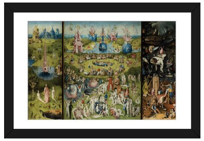 The Garden of Earthly Delights 1504 Framed Art Print