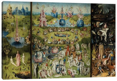 The Garden of Earthly Delights 1504 by Hieronymus Bosch Canvas Art Print
