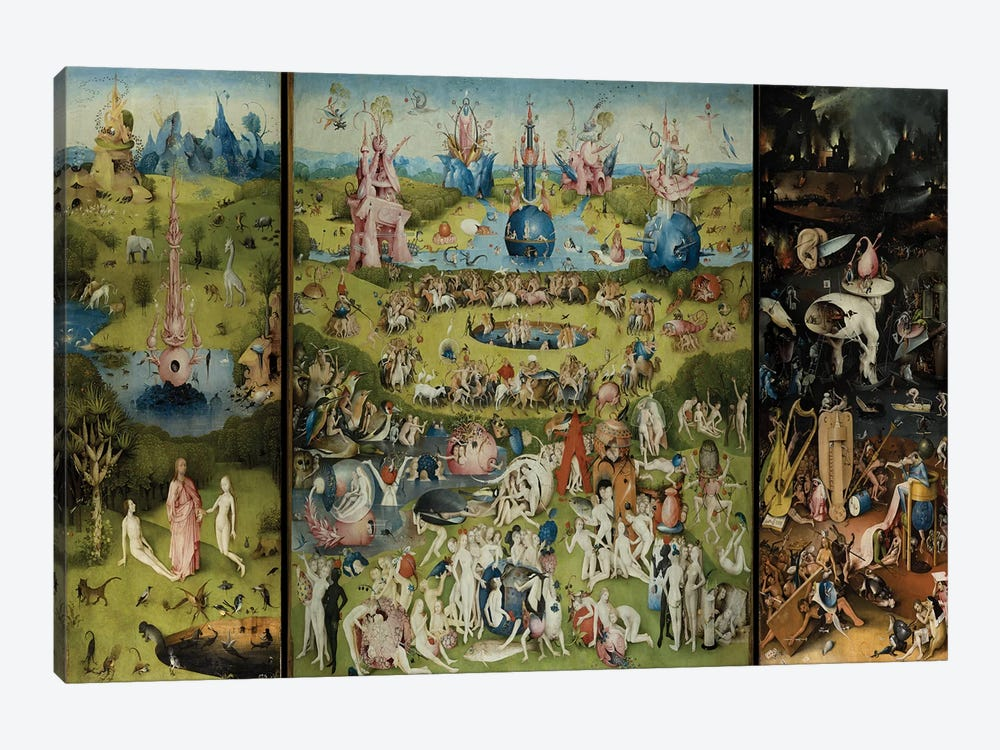 The Garden of Earthly Delights 1504 by Hieronymus Bosch 1-piece Canvas Art Print