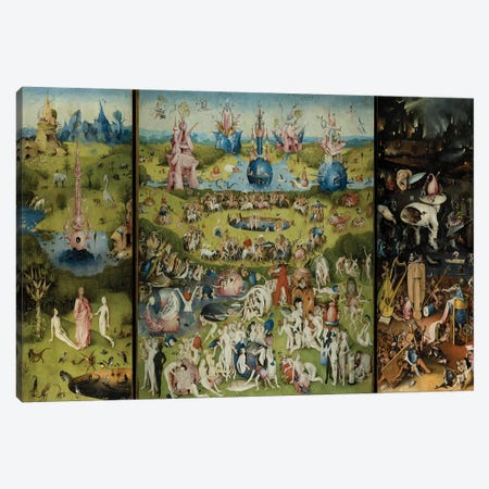 The Garden of Earthly Delights 1504 Canvas Print #1157} by Hieronymus Bosch Canvas Art Print