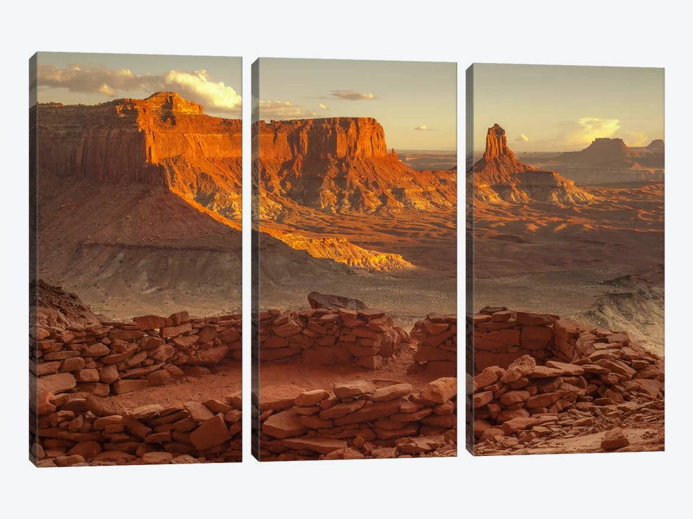 Lost Kiva by Dan Ballard 3-piece Canvas Artwork