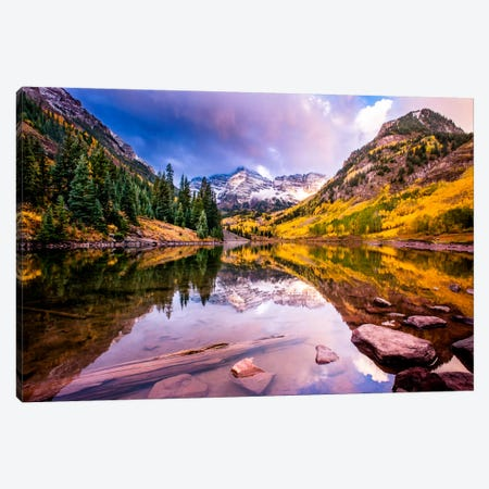 Maroon Bells Canvas Print #11584} by Dan Ballard Canvas Print