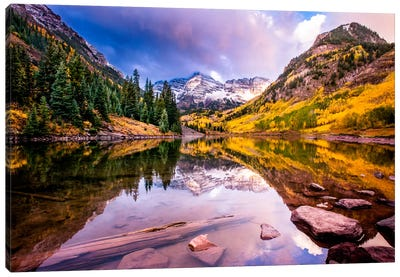 Maroon Bells Canvas Art Print